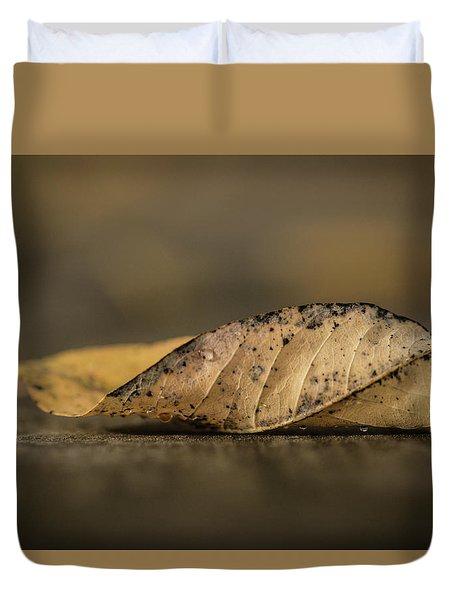 Fallen Leaf Duvet Cover by Hyuntae Kim