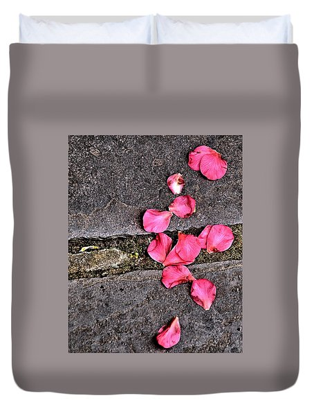 Fallen Petals Duvet Cover by Bob Wall