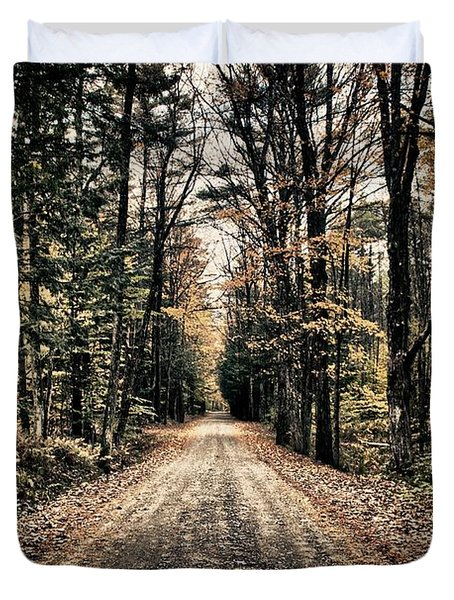 Fallen Road Duvet Cover by Nathan Larson