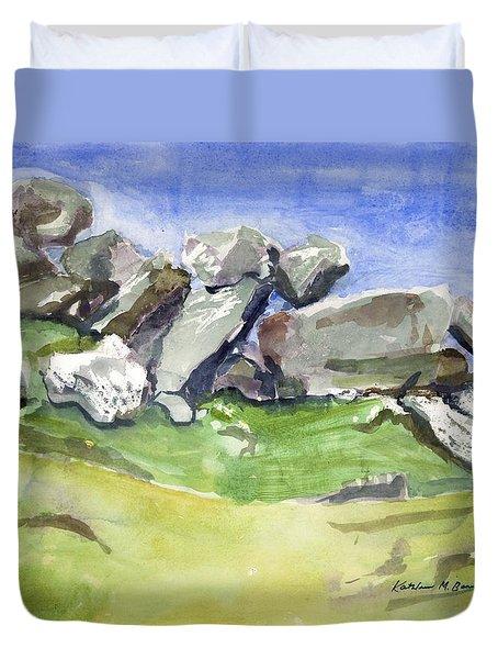 Fallen Stones Duvet Cover