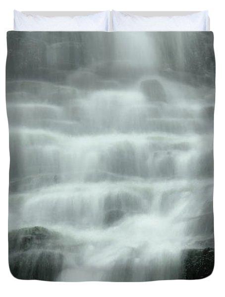 Falling Duvet Cover by Don Schwartz