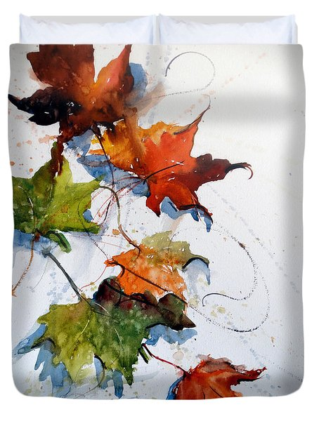 Falling Down    Duvet Cover by Sandra Strohschein