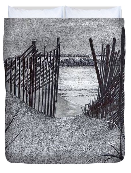 Falling Fence Duvet Cover