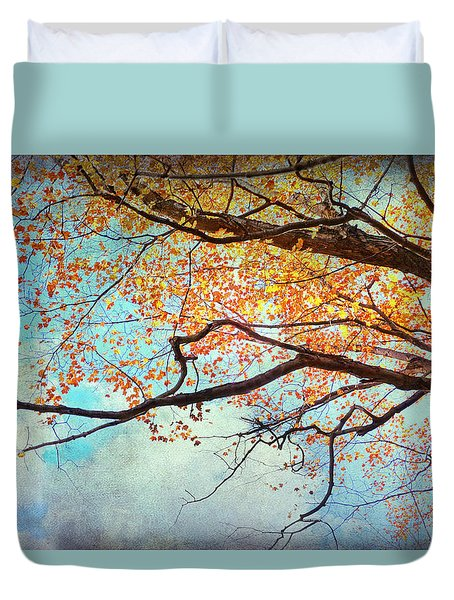 Fallen For Fall Duvet Cover by Kathi Mirto