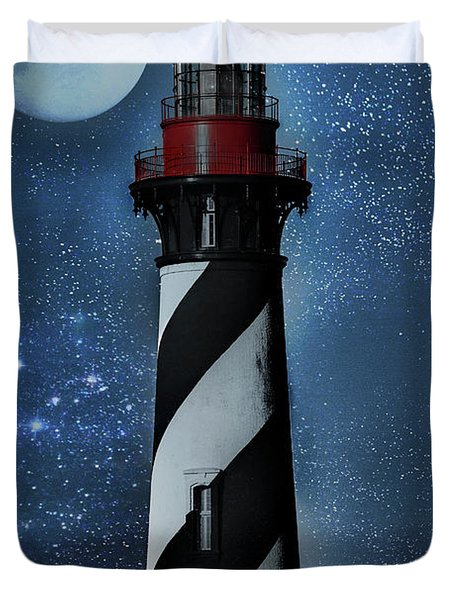 Falling For You St Augustine Lighthouse Duvet Cover