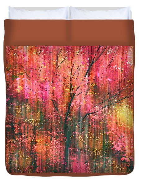 Duvet Cover featuring the photograph Falling Into Autumn by Jessica Jenney