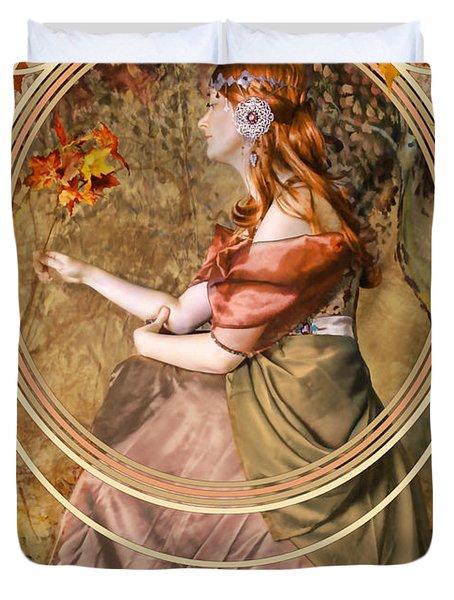 Falling Leaves Duvet Cover