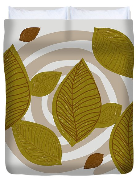 Falling Leaves Duvet Cover by Kandy Hurley