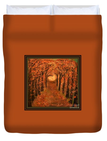 Falling Leaves  Duvet Cover by Mindy Bench
