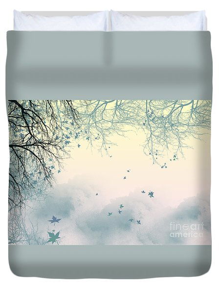 Falling Leaves Duvet Cover by Trilby Cole