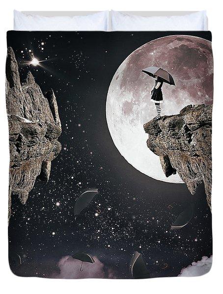 Falling Duvet Cover by Mihaela Pater