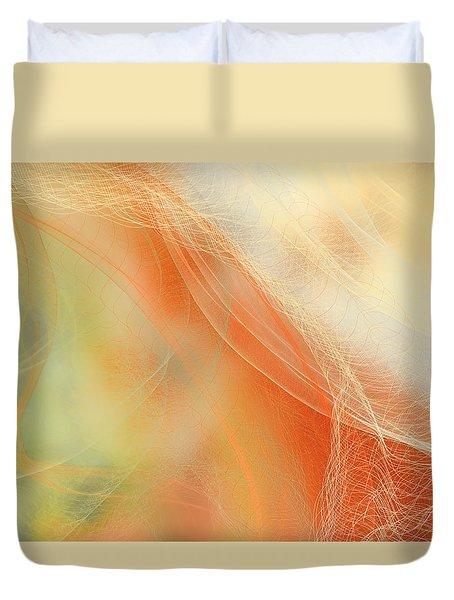 Duvet Cover featuring the digital art Falling Net by Constance Krejci