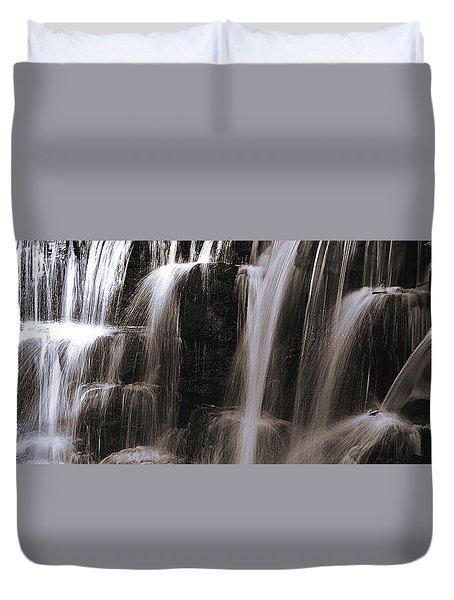 Falling Of Water Duvet Cover