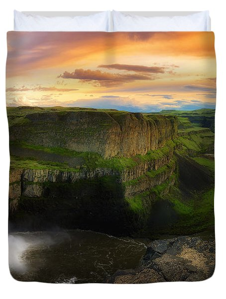 Falling Duvet Cover by Ryan Manuel
