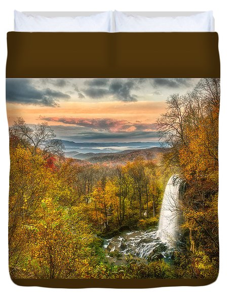 Duvet Cover featuring the photograph Falling Spring Falls by Russell Pugh