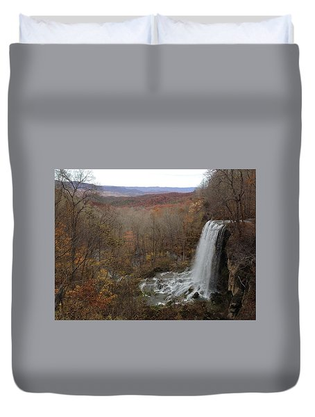 Falling Spring Falls, Va Duvet Cover