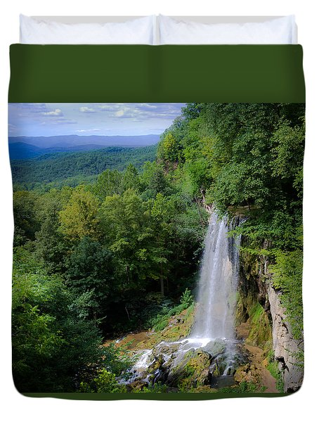 Falling Spring Waterfall Duvet Cover