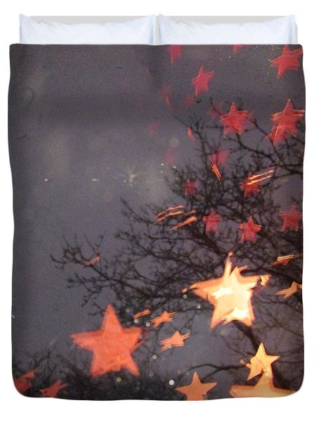 Falling Stars And I Wish.... Duvet Cover