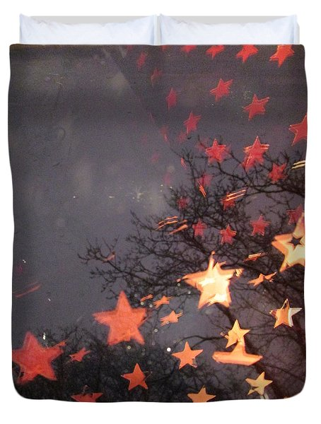 Falling Stars And I Wish.... Duvet Cover
