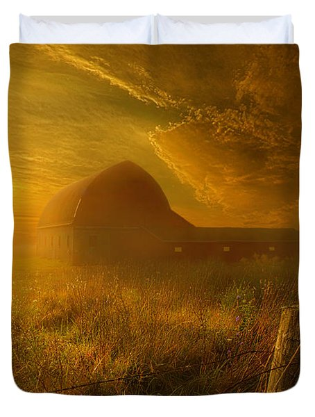 Falling Through Time Duvet Cover by Phil Koch