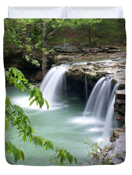 Falling Water Falls 4 Duvet Cover by Marty Koch