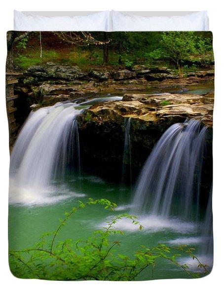 Falling Water Falls Duvet Cover by Marty Koch