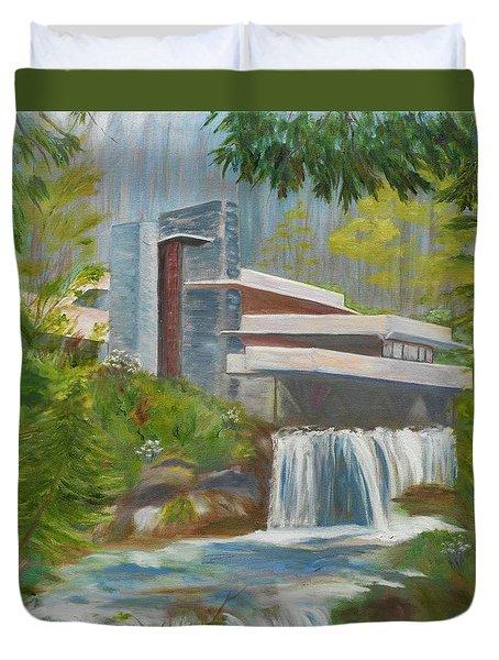 Falling Water Duvet Cover by Jamie Frier