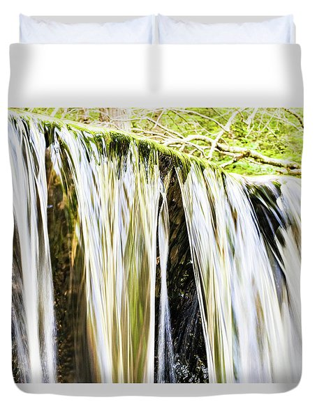 Falling Water Mirror Duvet Cover
