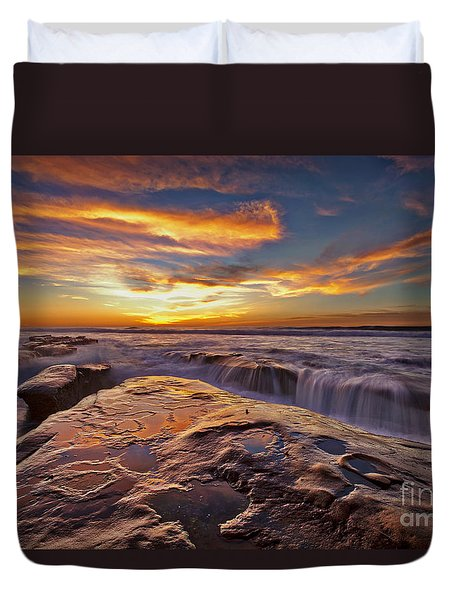 Falling Water Duvet Cover by Sam Antonio Photography