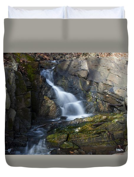 Falling Waters In February #2 Duvet Cover by Jeff Severson