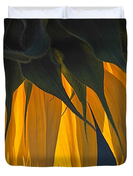 Falling Yellow  Duvet Cover