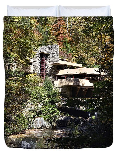 Fallingwater By Frank Lloyd Wright Duvet Cover