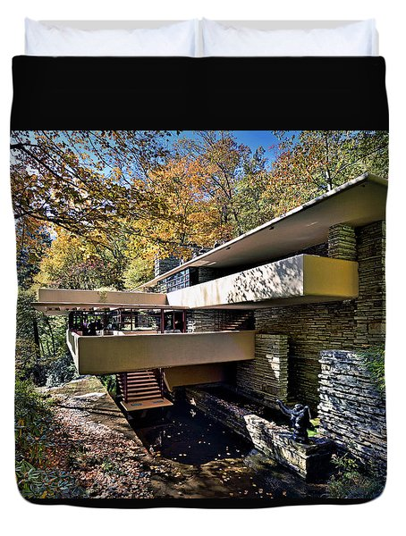 Fallingwater Pennsylvania - Frank Lloyd Wright Duvet Cover