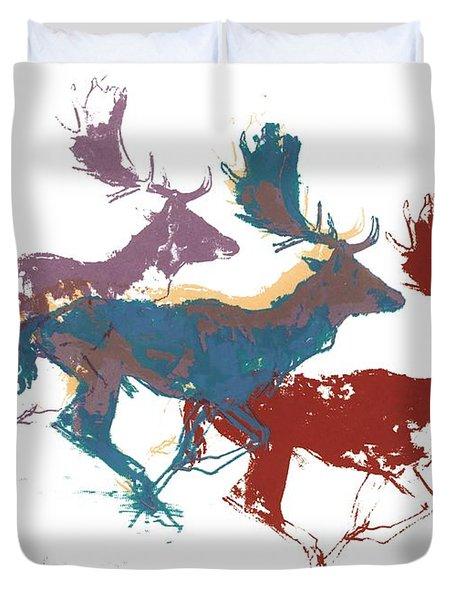 Fallow Bucks Duvet Cover