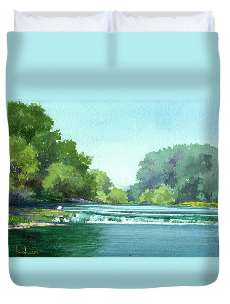 Falls At Estabrook Park Duvet Cover