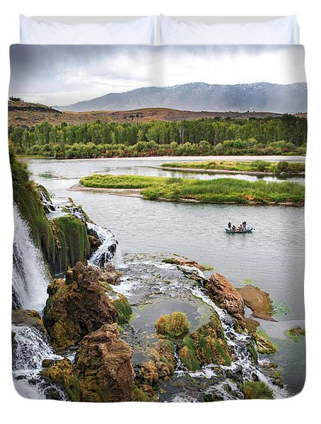 Falls Creak Falls And Snake River Duvet Cover