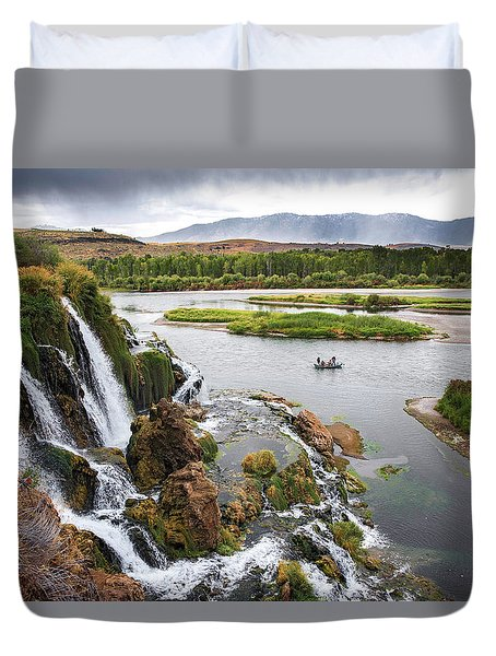 Falls Creak Falls And Snake River Duvet Cover