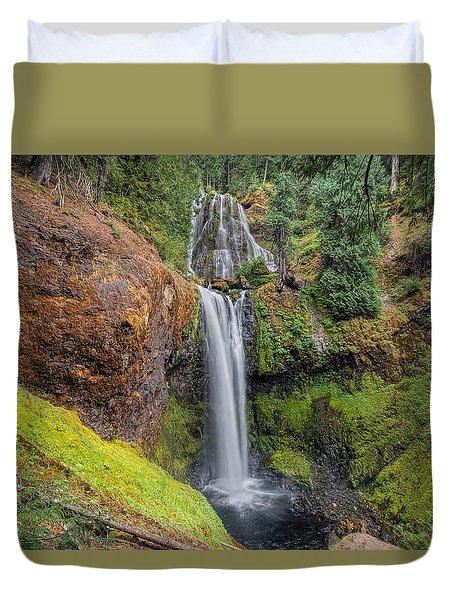 Falls Creek Falls Duvet Cover by David Gn