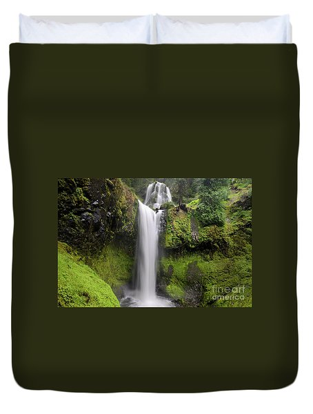 Falls Creek Falls In Washington  Duvet Cover