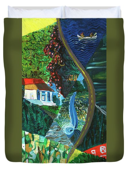 Falls, Fingers And Gorges Duvet Cover