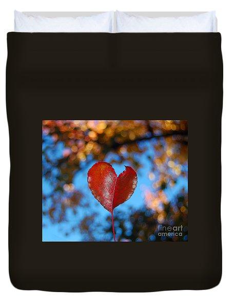 Fall's Heart Duvet Cover by Debra Thompson
