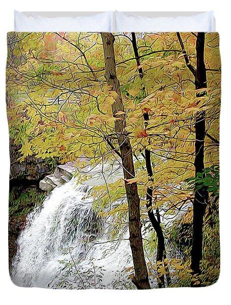Falls In Autumn Duvet Cover
