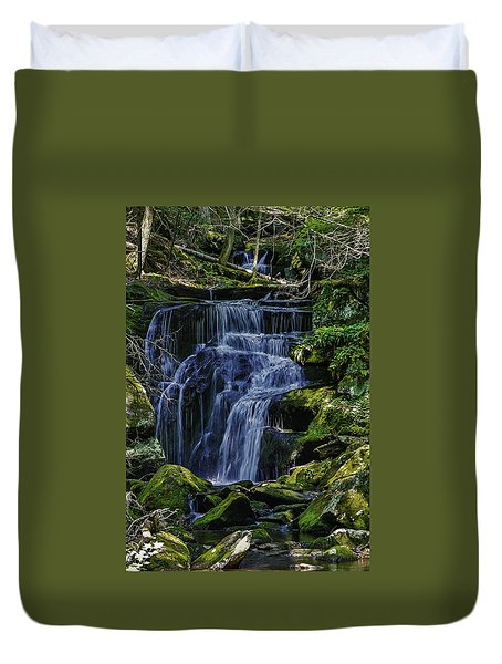 Falls In Vermont Mountain Stream  Duvet Cover
