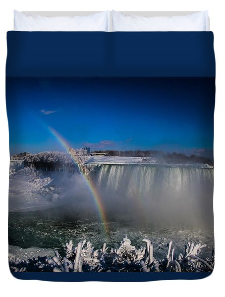 Falls Misty Rainbow  Duvet Cover