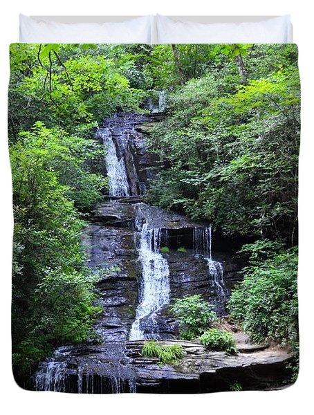 Falls Near Bryson City Duvet Cover