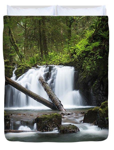 Falls On Canyon Creek Duvet Cover