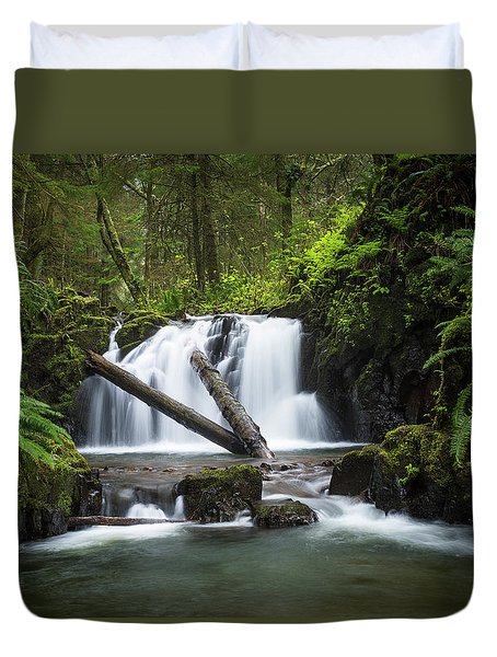 Falls On Canyon Creek Duvet Cover