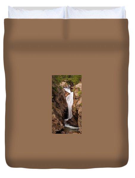 Falls On Falling River Duvet Cover