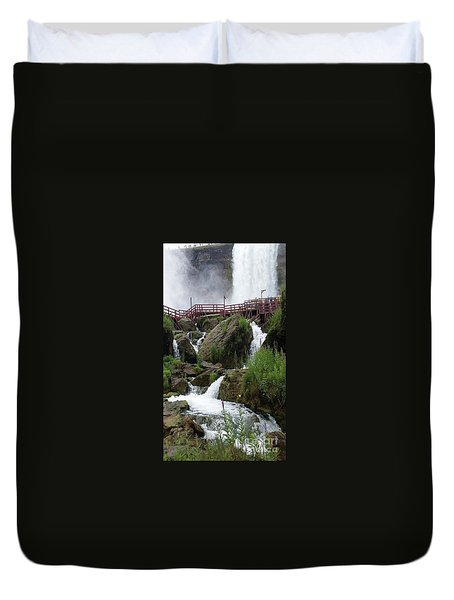 Duvet Cover featuring the photograph Falls by Raymond Earley