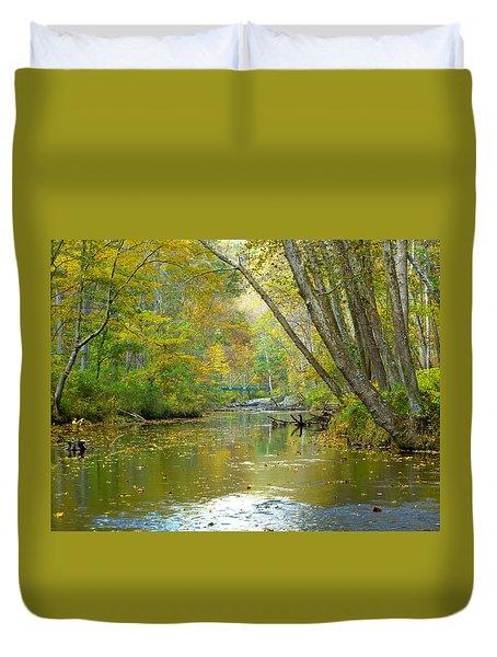 Duvet Cover featuring the photograph Falls Road Bridge Over The Gunpowder Falls by Donald C Morgan